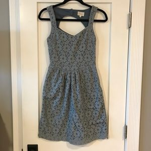 Floral Blue Anthropologie Dress